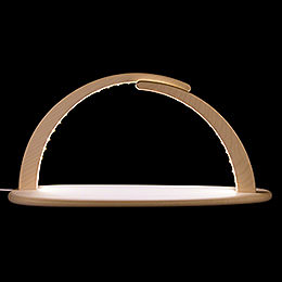 Modern Light Arch  -  LED Illuminated  -  without Figurines  -  42x21x13cm / 16x8x5 inch