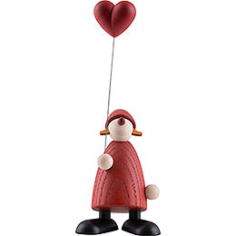 Mrs. Claus with Heart  -  9cm / 3.5 inch