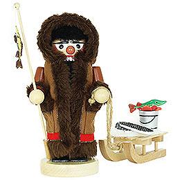 Nussknacker Chubby Eskimo mit Schlitten  -  26cm