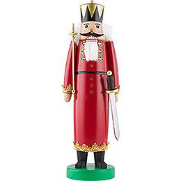 Nussknacker König mit langem Mantel und Swarovski - Kristallen  -  43cm