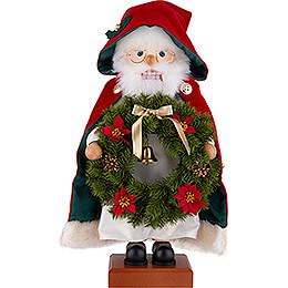 Nussknacker Weihnachtsmann Kranz  -  45cm