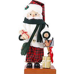 Nussknacker Weihnachtsmann Schottenkaro  -  46,5cm