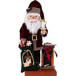 Nussknacker Weihnachtsmann am Kamin  -  49cm