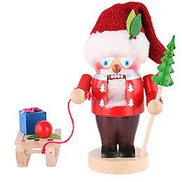 Nussknacker Weihnachtsmann mit Schlitten  -  25cm