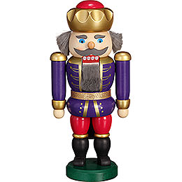Nutcracker  -  Exclusive King Indigo - Raspberry  -  20cm / 7.9 inch