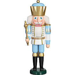 Nutcracker  -  Exclusive King White - Blue  -  40cm / 15.7 inch