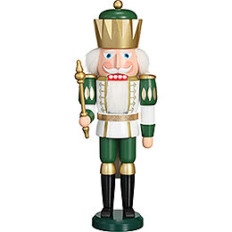 Nutcracker  -  Exclusive King White - Green  -  40cm / 15.7 inch