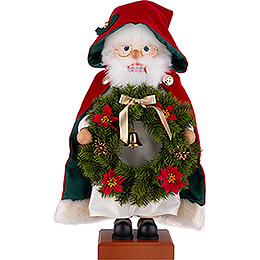 Nutcracker  -  Santa Wreath  -  45cm / 17.7 inch