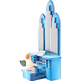 Organ with Angel and Musical Mechanism  -  6,5cm / 2 inch