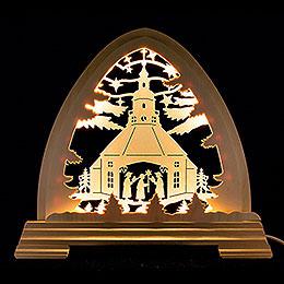 Pointed Arch  -  Seiffen Church  -  40x37cm / 15.7x14.6 inch
