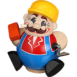 Räuchermännchen Bauarbeiter  -  Kugelräucherfigur  -  11cm