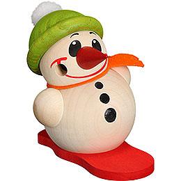 Räuchermännchen Cool - Man mit Snowboard & Bommelmütze  -  Kugelräucherfigur  -  9cm