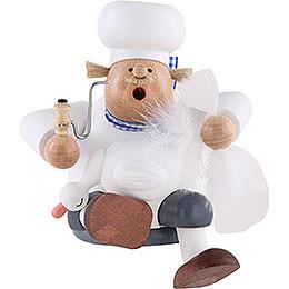 Räuchermännchen Koch mit Gans  -  Kantenhocker  -  17cm