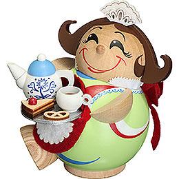 Räuchermännchen Schokoladenmädchen  -  Kugelräucherfigur  -  11cm