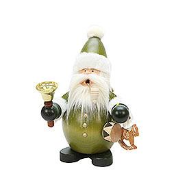 Räuchermännchen Weihnachtsmann grün  -  22cm