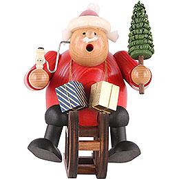 Räuchermännchen Weihnachtsmann mit Schlitten  -  18cm