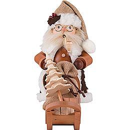 Räuchermännchen Weihnachtsmann mit Schlitten  -  28,0cm