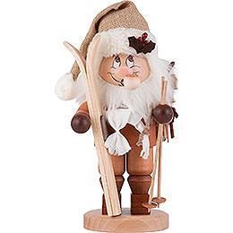 Räuchermännchen Weihnachtsmann mit Ski  -  28,5cm