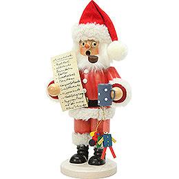 Räuchermännchen Weihnachtsmann mit Wunschzettel  -  26cm