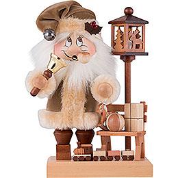 Räuchermännchen Wichtel Weihnachtsmann mit Bank  -  28,5cm
