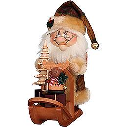 Räuchermännchen Wichtel Weihnachtsmann mit Schlitten  -  28cm