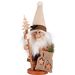 Räuchermännchen Wichtel Weihnachtsmann mit Stab  -  39cm