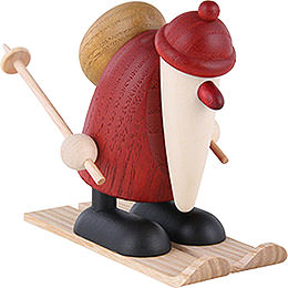 Santa Claus Riding Ski  -  9cm / 3.5 inch