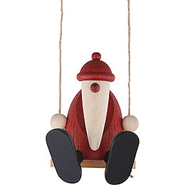 Santa Claus on a Swing  -  9cm / 3.5 inch
