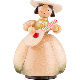 Schaarschmidt Hat Lady with Mandoline  -  4cm / 1.6 inch