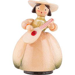 Schaarschmidt Hut - Dame mit Mandoline  -  4cm