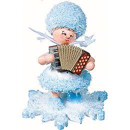 Schneeflöckchen mit Akkordeon  -  5cm