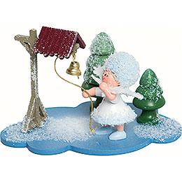 Schneeflöckchen mit Glocke -  10x7x6cm