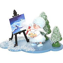 Schneeflöckchen mit Staffelei  -  5cm