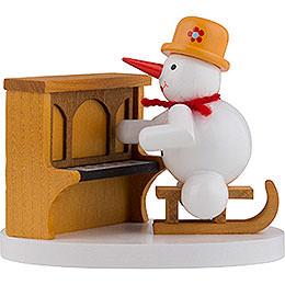 Schneemann Klavierspieler  -  8cm