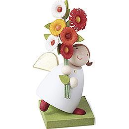 Schutzengel mit Blumen  -  3,5cm