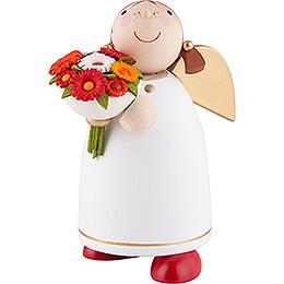Schutzengel mit Blumenstrauß  -  8cm