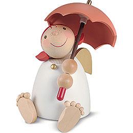 Schutzengel mit Schirm, rotorange  -  16cm