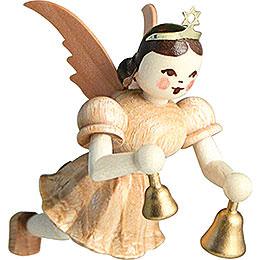 Schwebeengel Glocken, natur  -  6,6cm