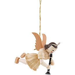 Schwebeengel mit Klarinette, natur  -  6,6cm