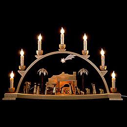Schwibbogen Christi Geburt natur  -  60x35cm