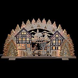 Schwibbogen Kunstgewerbe mit Thielfiguren  -  72x41x7cm