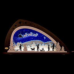 "Schwibbogen LED ""Santa Claus""  -  66x33,8cm"