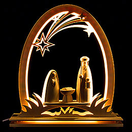 Seidelbogen Christi Geburt  -  31x33cm