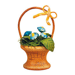 """Set of Three -  Flower Basket """"forget - Me - Not""""  -  5cm / 2 inch"""
