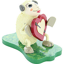 "Sheep ""Lovely"", in Love  -  5cm / 2 inch"