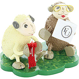 "Sheep ""Omi"" and ""Opi"", Grandparents  -  5cm / 2 inch"