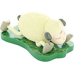 "Sheep ""Schlaffi"", Lying on the Stomach  -  3,5cm / 1.4 inch"