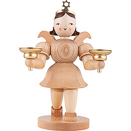 Shortskirt Angel Natural, with Candle Holder  -  20cm / 7.8 inch