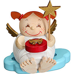 Smoker  -  Angel with Christmas Present  -  Ball Figure  -  12cm / 4.7 inch