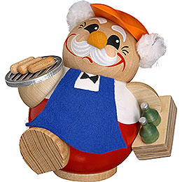 Smoker  -  BBQ Man  -  Ball Figure  -  12cm / 5 inch